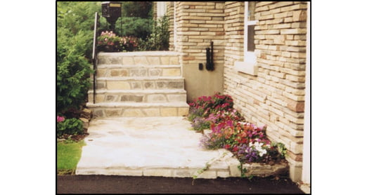 Flagstone entranceway