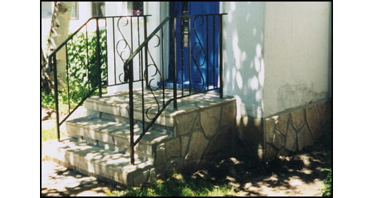 Flagstone entranceway repair