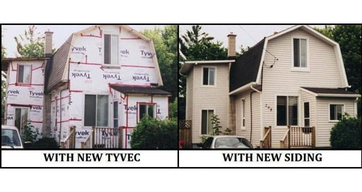 Before / After Vinyl Siding Project