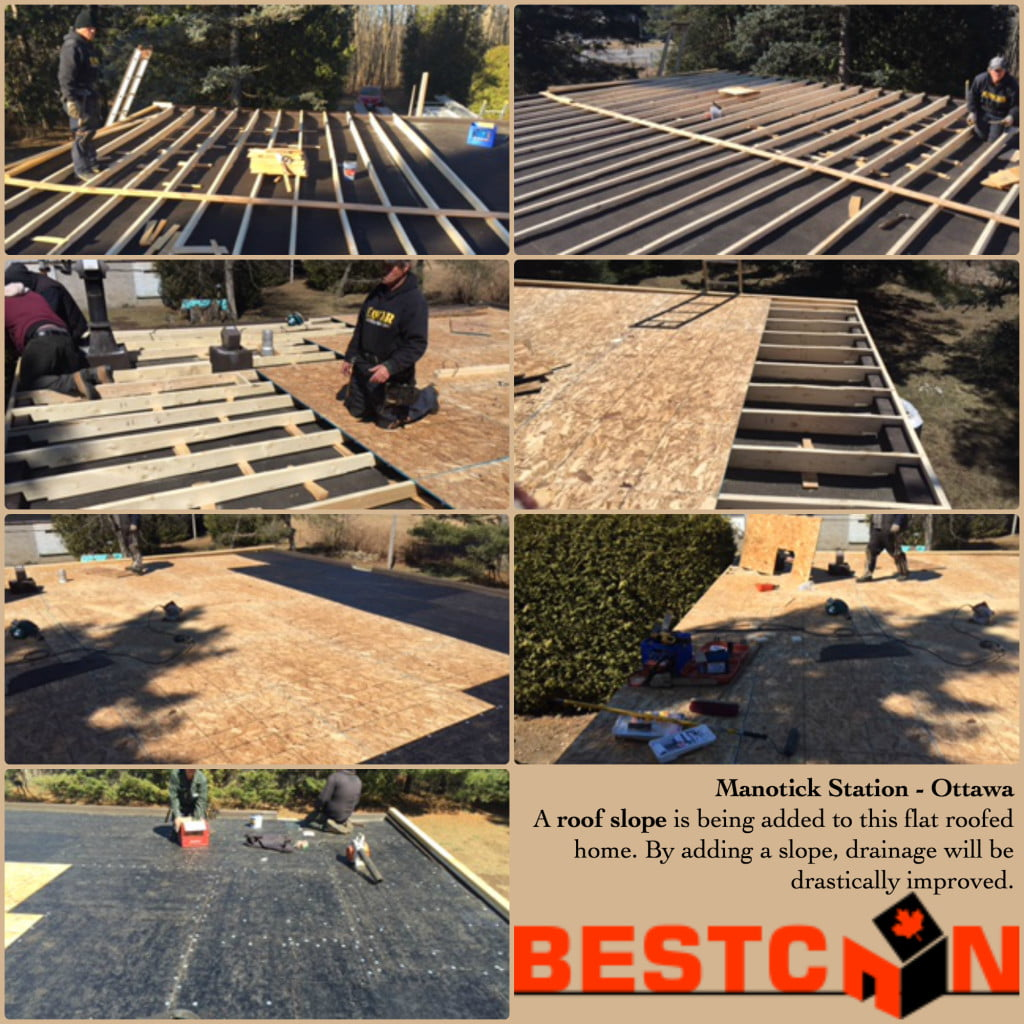 Adding A Roof Slope To A Flat Roof Home Bestcan Home