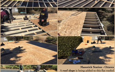 Adding a Roof Slope to a Flat Roof Home