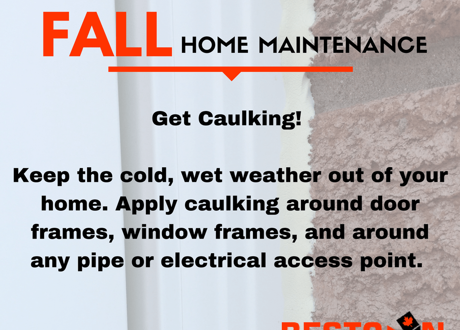 Fall Home Maintenance Tips – Caulking