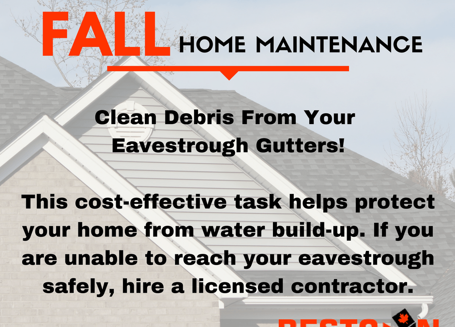 Fall Home Maintenance Tips – Eavestroughs