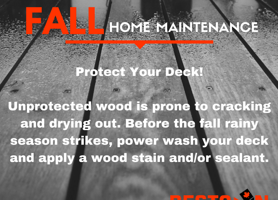 Fall Home Maintenance Tips – Decks