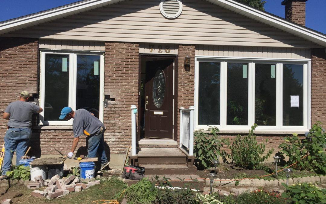 Blackburn Hamlet, ON: Removing Brick & Adding A Window
