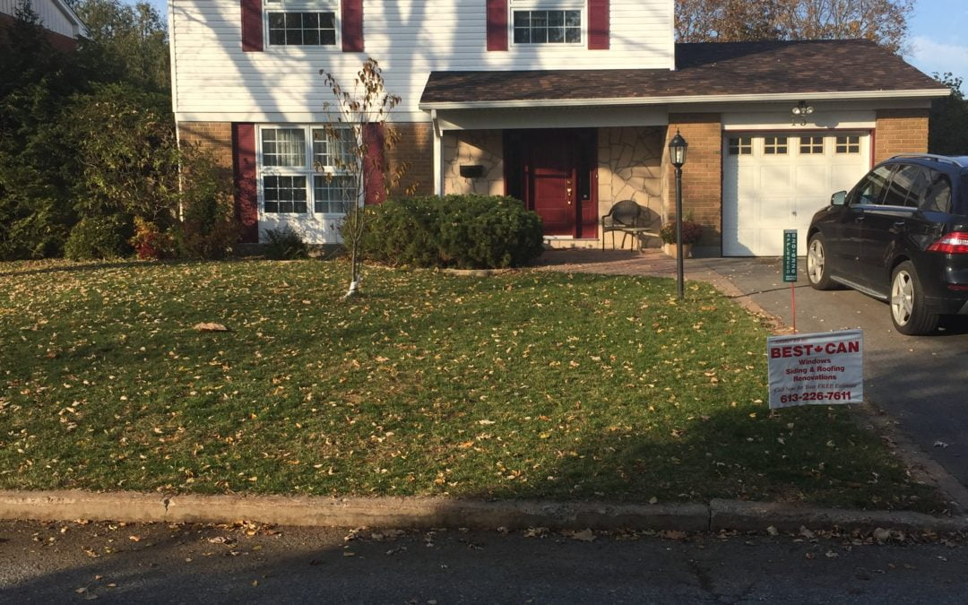 Home Improvements in Leslie Park – Vinyl Siding, Shutters, Front Door and Stone Work