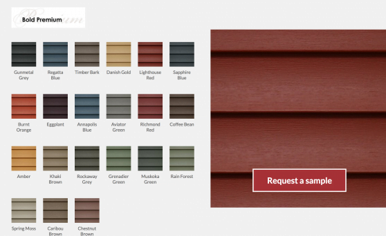 mitten vinyl siding colours