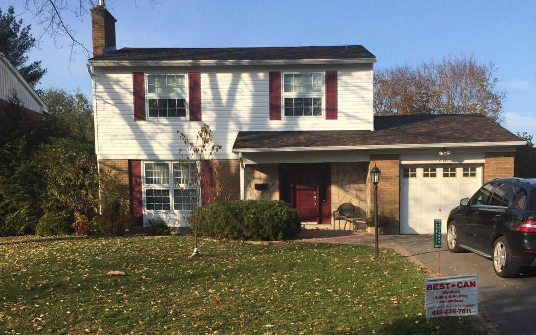 Home Improvements in Leslie Park – Vinyl Siding, Shutters, Door & Stone Work